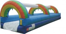 Inflatable Rainbow Slip and Slide